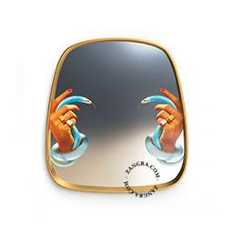 mirror-gold-snake-Seletti-brass-art