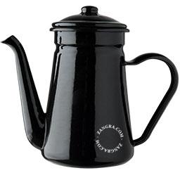 enamel-teapot-tableware-black