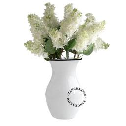 enamel vase flower white