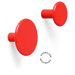 hook brass door knob lacquered painted red