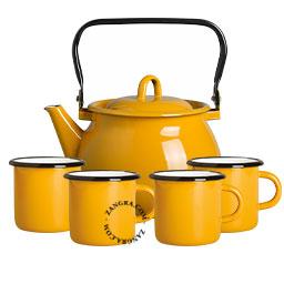 tasse-email-moutarde-vaisselle-bouilloire