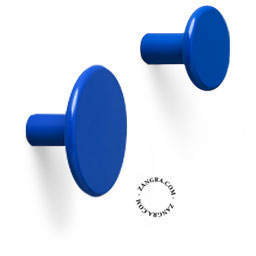 hook brass door knob lacquered painted blue