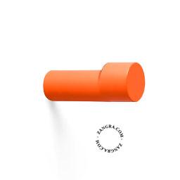 hook brass door knob lacquered painted orange