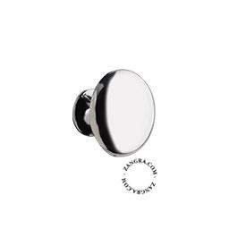 cupboard knob chrome plated