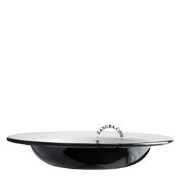 black-enamel-dinner-soup-plate-tableware
