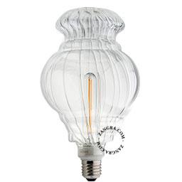 adaptor-LED-globe-dimable-bulb-lightbulb-glass-clear-calabash