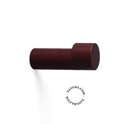hook brass door knob lacquered painted brown