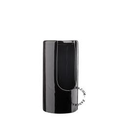 black ceramic cotton pad dispenser