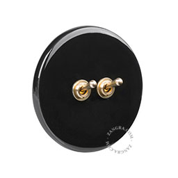 black-porcelain-light-toggle-switch-two-way-push-button-dimmer-brass