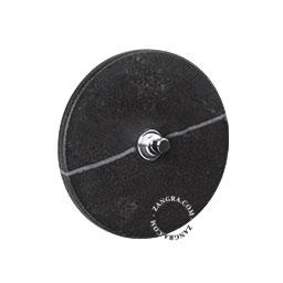 push button black marble