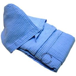 bathrobe-light-blue-cotton-honeycomb