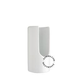 white ceramic cotton pad dispenser
