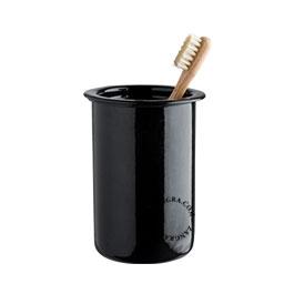 enamel toothbrush tumbler black