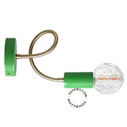 bras-flexible-lampe-applique-murale-metal-vert