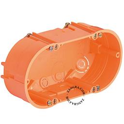 flush-mount plastic wall box - double