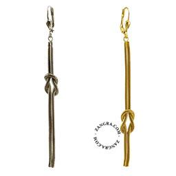 earrings-jewellery-women-gold-silver-knot