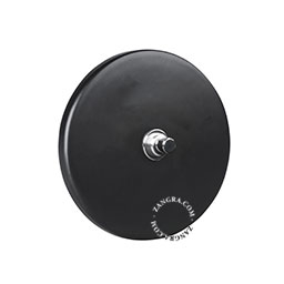 black-porcelain-light-toggle-switch-two-way-push-button-dimmer