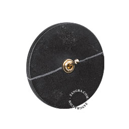 brass toggle switch black marble