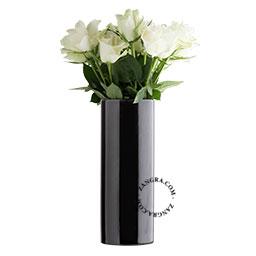 black porcelain vase