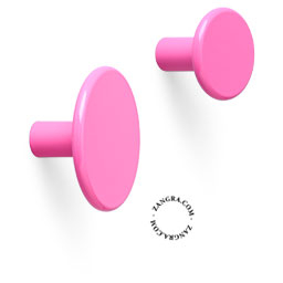 hook brass door knob lacquered painted pink