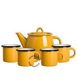 tableware-enamel-mustard-mug-teapot