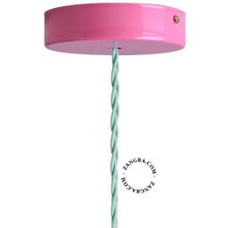 metal-ceiling-rose-ceiling-cup-lighting-pink