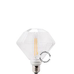 adaptor-LED-globe-dimable-bulb-lightbulb-glass-clear-hexagon