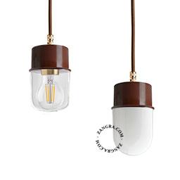 lampe-suspension-metal-brun-abat-jour-verre-globe