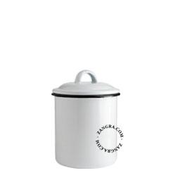 enamel-jar-tableware-white
