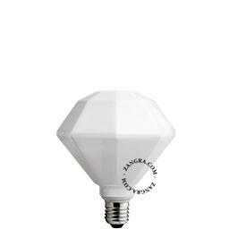 adaptor-LED-globe-dimable-bulb-lightbulb-glass-opal-hexagon