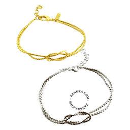 jewellery-gold-bracelet-silver-knot-women