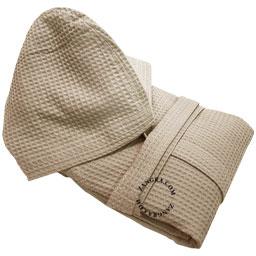 bathrobe-ecru-cotton-honeycomb