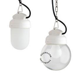metal-porcelaine-lampe-blanc-étanche