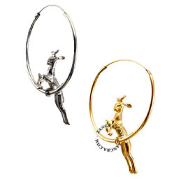 earrings-hoop-deer-jewellery-women-silver-gold