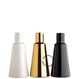 ceramic-vase-gold-white-black