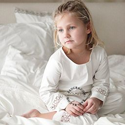 girl's pyjamas with lace