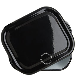 enamel baking dish black kitchen