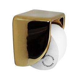 golden ceramic toilet paper holder