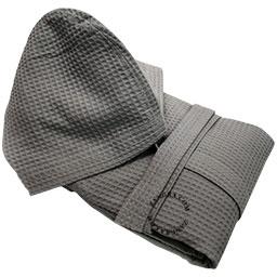 honeycomb-bathrobe-cotton-grey