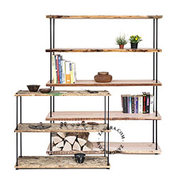 shelf-metal-building-set-rack-bookshelf-diy