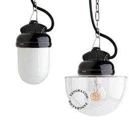 metal-porcelaine-lampe-noir-étanche