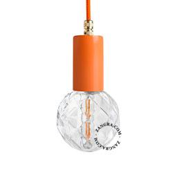 lampe-applique-murale-metal-orange