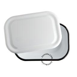 enamel baking dish white kitchen