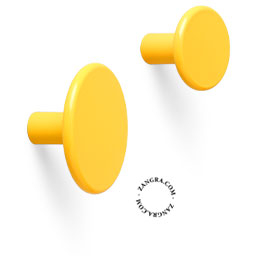 brass hook door knob lacquered painted yellow