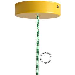 metal-ceiling-rose-ceiling-cup-lighting-yellow