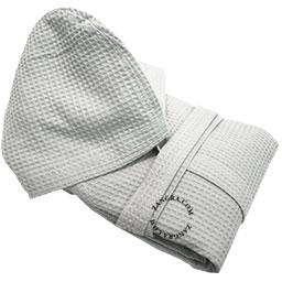 honeycomb-bathrobe-cotton-light-grey