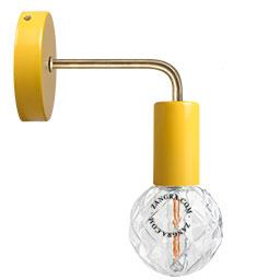 lampe-applique-murale-metal-jaune