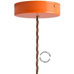 metal-ceiling-rose-ceiling-cup-lighting-orange