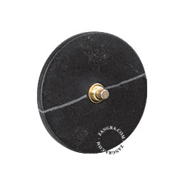push button black marble and brass