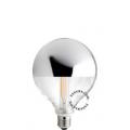 LED filament bulb – silver crown mirror
